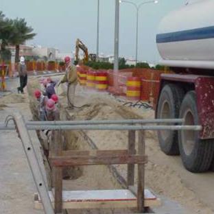 Thrust Boring Works at Jubail-Dhahran Highway
