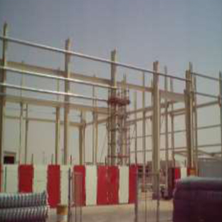 Construction of New Al-Hilal Factor – 2nd Industrial Area in Dammam – Column Foundation & on-going Structural Erection Roofing Installation